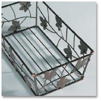 Guest Towel Basket Bronze Leaf