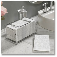 Guest Towel Basket Chrome Wire