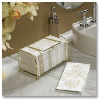Guest Towel Basket Gold Wire