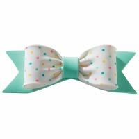 Gum Paste Bow Pastel DotsGreen