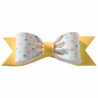 Gum Paste Bow PastelDots Yello