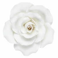 """Gum Paste Rose White 2"""""""