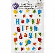 Happy Birthday Icing Decs