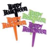 Happy Halloween Cupcake Picks Assorted