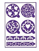 Heart Adhesive Stencils