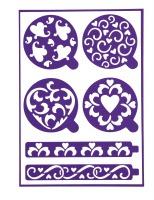 Heart Adhesive Stencils