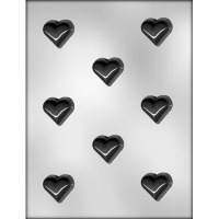 "1-3/8"" Heart Candy Mold (8)"