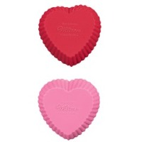 Heart Silicone Bake Cups 12 CT