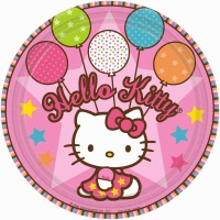 "Hello Kitty 9"" Plates 8 Count"