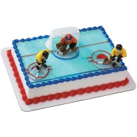 Hockey Face Off Cake Topper Kit