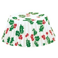 Holly Bake Cup 50 CT