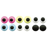 "Icing Eyes 1/2"" White / Black  50 CT"