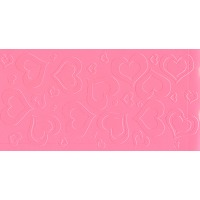 Impression Mat Raised Hearts