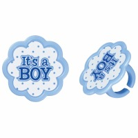It's a Boy Cupcake Ring 12ct