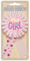 It's A Girl Award Ribbon