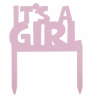 It's A Girl Cake Banner