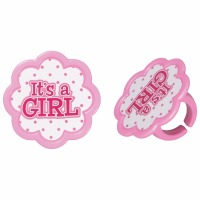 It's a Girl Cupcake Ring 12ct