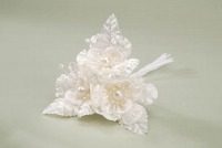 Ivory Flower Spray w/ Pearls