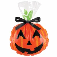 Jack-O-Lantern Shape Bag 12 CT