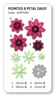 JEM 8-Petal Daisy Set of 4