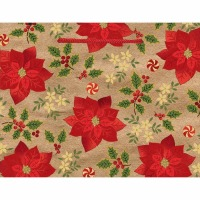 Kraft Poinsettia Medium Bag