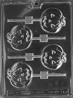 Med. Flat Pumpkin Lolly Mold