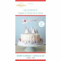 Merry & Bright Cake Deco Kit