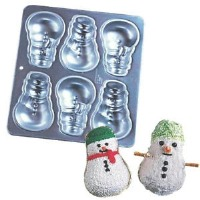 Mini Snowman Pan 6-Cavity