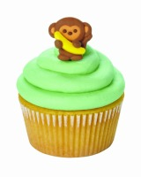 Monkey with Banana Icing Decoration