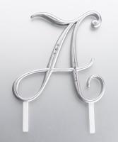 Monogram Silver Rhinestone A