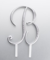 Monogram Silver Rhinestone B