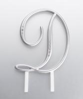Monogram Silver Rhinestone D