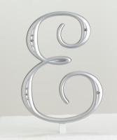 Monogram Silver Rhinestone E