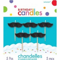 Mustache Candles Set of 5