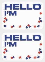 Name Tag Confetti Design