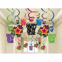 New Years Swirl Decorations
