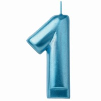 Numeral Candle Blue #1