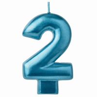 Numeral Candle Blue #2