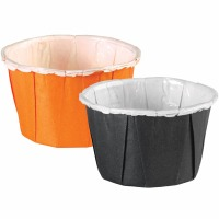 Nut Cups Black & Orange 24 CT