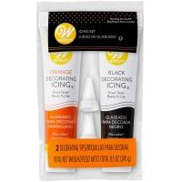 Orange & Black Icing w/Tips