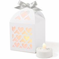 Paper Lantern Boxes White