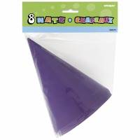 Party Hats 8 CT Purple