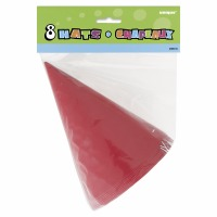 Party Hats 8 CT Red