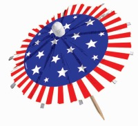 "Patriotic 6"" Umbrella Picks 24"