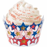 Patriotic Cupcake Wraps 18 CT