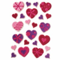 Patterned Hearts Icing Dec
