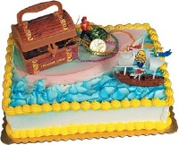Pirate Ship Treasure Cake Topper Kit