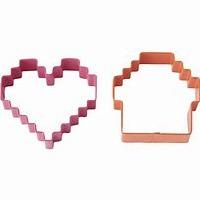 Pixels Cakes Cookie Cutter Set