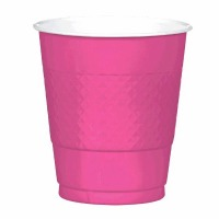 Plastic 12 OZ Cup 20 CT Bright Pink