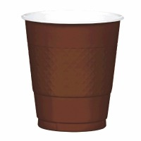 Plastic 12 OZ Cup 20 CT Brown